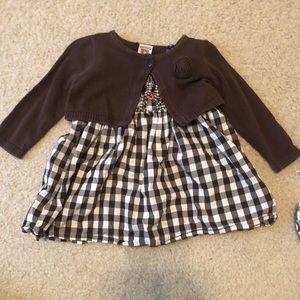 Brown checkered dress